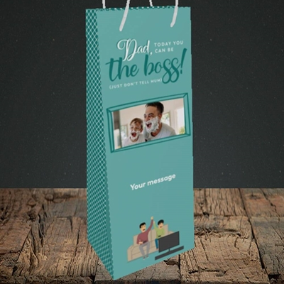 Picture of The Boss, Father's Day Design, Bottle Bag