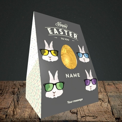 Picture of Hipster Bunnies(Without Photo), Easter Design, Truffle Easter Egg