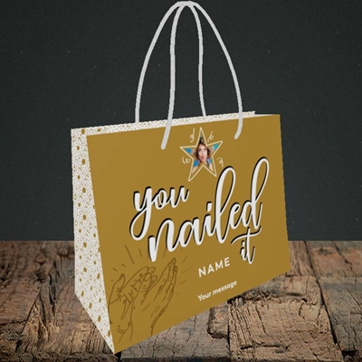 Picture of Nailed It, Graduation Design, Small Landscape Gift Bag
