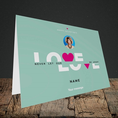 Picture of Never Let Our Love Be Apart, Valentine's Design, Landscape Greetings Card