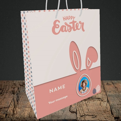 Picture of Ears & Egg, Easter Design, Medium Portrait Gift Bag