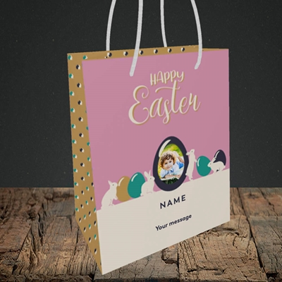 Picture of Four Bunnies, Easter Design, Small Portrait Gift Bag