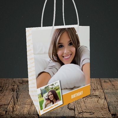 Picture of Photo, Birthday Design, Small Portrait Gift Bag