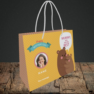 Picture of Mummy You Are The Best Bear, Mother's Day Design, Small Landscape Gift Bag