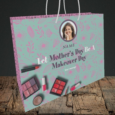 Picture of Makeover Day, Mother's Day Design, Medium Landscape Gift Bag