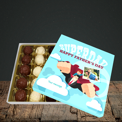 Picture of Superdad, Father's Day Design, Choc 25