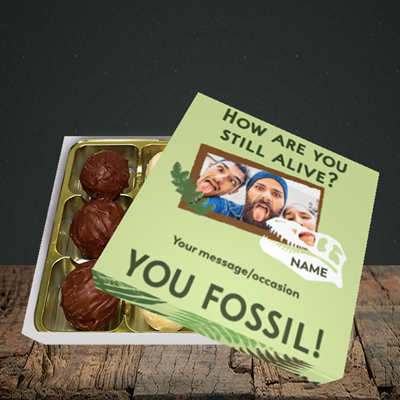 Picture of Fossil, Birthday Design, Choc 9