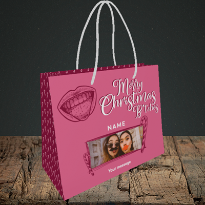 Picture of Merry Christmas Bitches, Christmas Design, Small Landscape Gift Bag