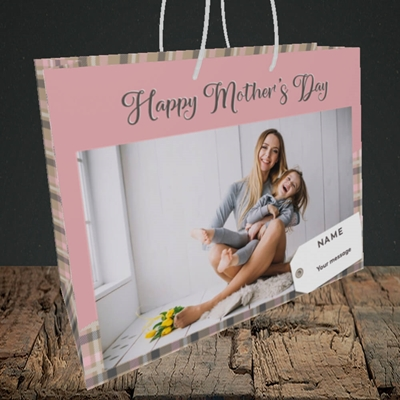 Picture of 1. Large Photo(Chequer), Mother's Day Design, Medium Landscape Gift Bag