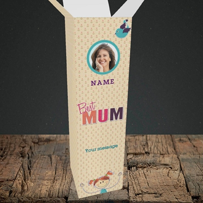 Picture of Best Mum, Upright Bottle Box