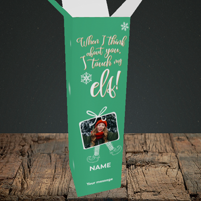 Picture of Touch My Elf, Christmas Design, Upright Bottle Box