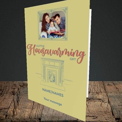 Picture of Housewarming, New Home Design, Portrait Greetings Card