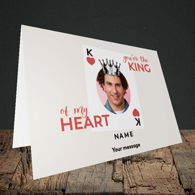 Picture of King Of My Heart, Valentine's Design, Landscape Greetings Card