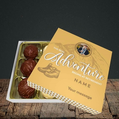 Picture of Adventure Begins, Retirement Design, Choc 9