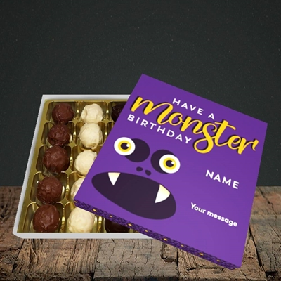 Picture of Monster Face(Without Photo), Birthday Design, Choc 25