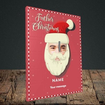 Picture of Father Christmas Mask, Standard Advent Calendar