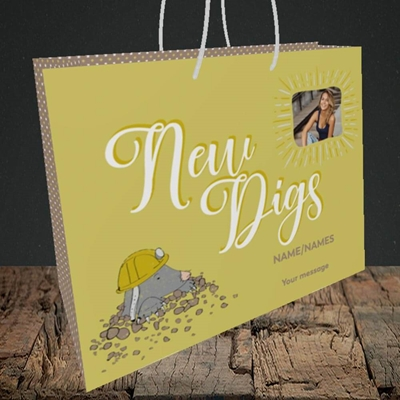 Picture of New Digs, New Home Design, Medium Landscape Gift Bag