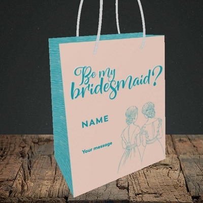 Picture of Be My Bridesmaid(Without Photo), Wedding Design, Small Portrait Gift Bag