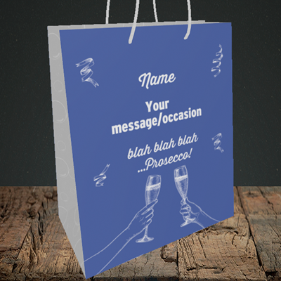 Picture of Blah, (Without Photo) Birthday Design, Medium Portrait Gift Bag