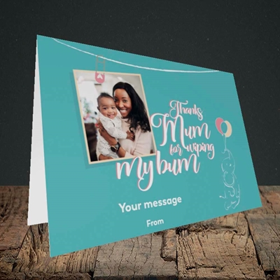 Picture of Wiping My Bum, Mother's Day Design, Landscape Greetings Card