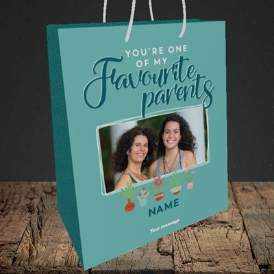 Picture of Favourite Parents, Mother's Day Design, Medium Portrait Gift Bag