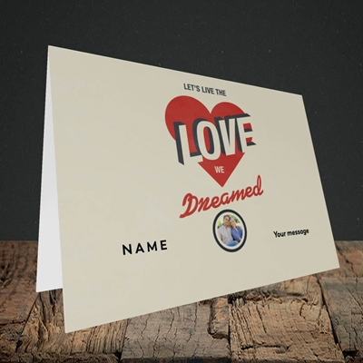 Picture of Let's Live The Love, Valentine's Design, Landscape Greetings Card