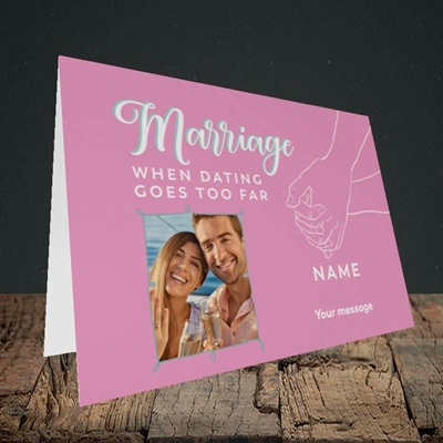 Picture of Dating Goes Too Far, Wedding Design, Landscape Greetings Card