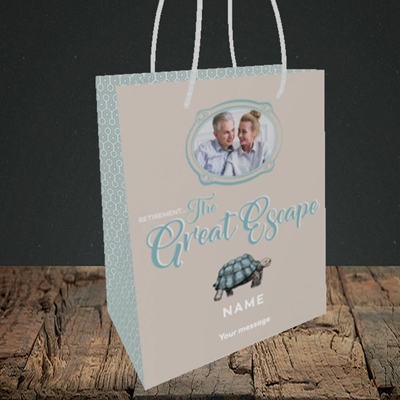 Picture of The Great Escape, Retirement Design, Small Portrait Gift Bag