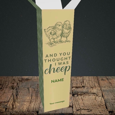 Picture of Cheep, (Without Photo) Easter Design, Upright Bottle Box