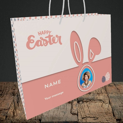 Picture of Ears & Egg, Easter Design, Medium Landscape Gift Bag