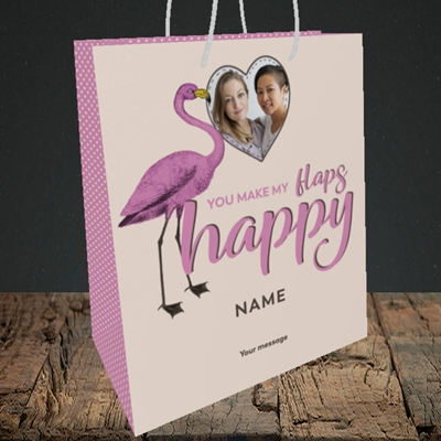Picture of Happy Flaps, Valentine's Design, Medium Portrait Gift Bag