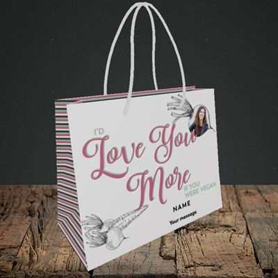 Picture of If You Were Vegan, Valentine's Design, Small Landscape Gift Bag