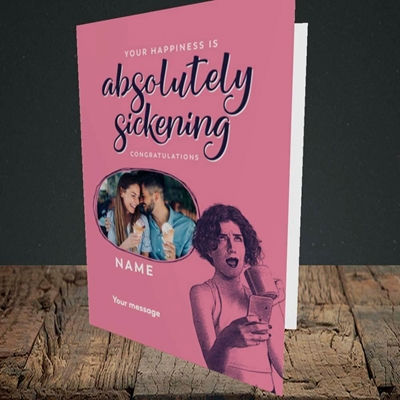 Picture of Absolutely Sickening, Wedding Design, Portrait Greetings Card