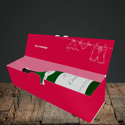 Picture of Love Island Reject, (Without Photo) Valentine's Design, Lay-down Bottle Box