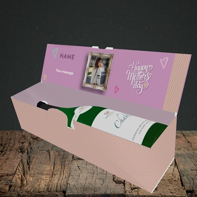 Picture of Happy Mother's Day, Mother's Day Design, Lay-down Bottle Box