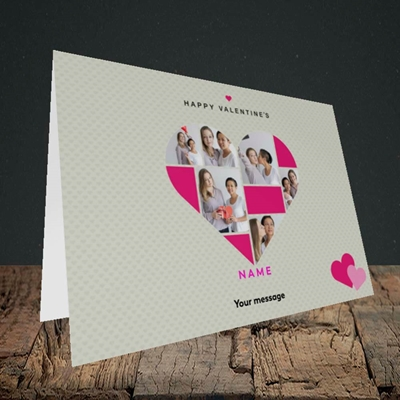 Picture of Heart Multi Photo, Valentine's Design, Landscape Greetings Card
