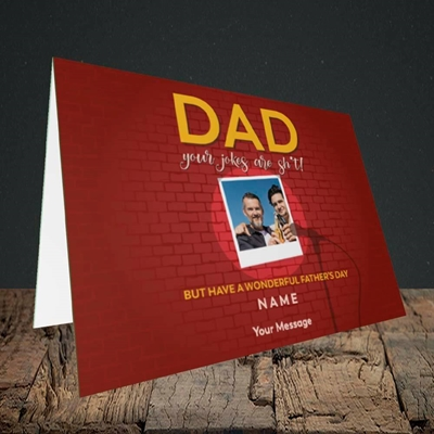 Picture of Dad Jokes, Father's Day Design, Landscape Greetings Card