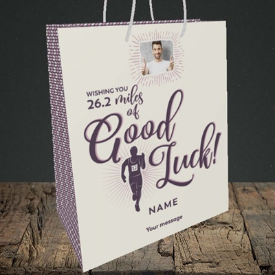 Picture of Miles of Luck, Good Luck Design, Medium Portrait Gift Bag