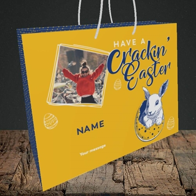 Picture of Crackin' Easter, Easter Design, Medium Landscape Gift Bag