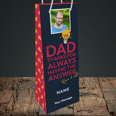 Picture of Know It All, Father's Day Design, Bottle Bag