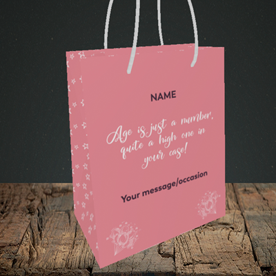 Picture of Age, (Without Photo) Birthday Design, Small Portrait Gift Bag