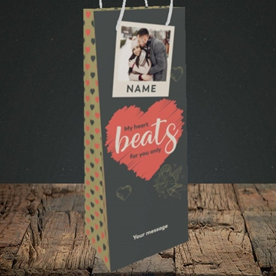 Picture of Beats For You, Valentine's Design, Bottle Bag