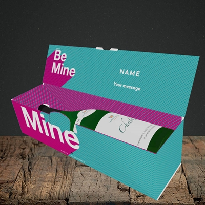 Picture of Always be Mine (type) (Without Photo), Valentine's Design, Lay-down Bottle Box