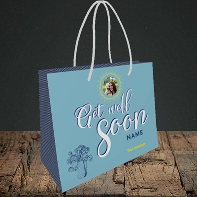 Picture of Sun & Flowers, Get Well Soon Design, Small Landscape Gift Bag
