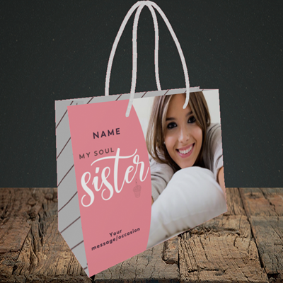 Picture of Soul Sister, Birthday Design, Small Landscape Gift Bag