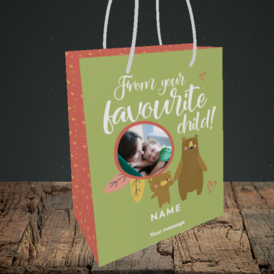 Picture of Favourite child, Mother's Day Design, Small Portrait Gift Bag