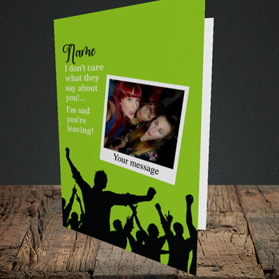 Picture of Crowd, Leaving Design, Portrait Greetings Card