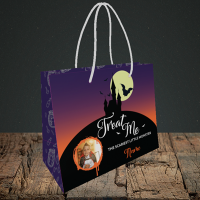 Picture of Castle, Halloween Design, Small Landscape Gift Bag