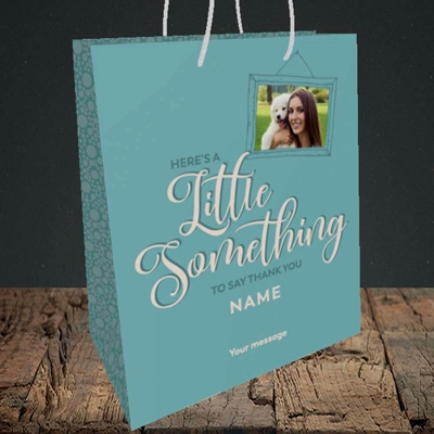 Picture of A Little Something, Thank You Design, Medium Portrait Gift Bag