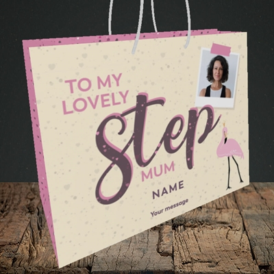 Picture of Lovely Step Mum, Mother's Day Design, Medium Landscape Gift Bag